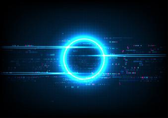 Blue Circle Digital Abstract Technology