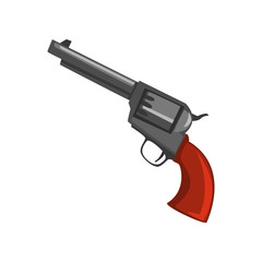 Vintage revolver gun vector Illustration on a white background