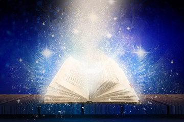 Abstract background with magic book