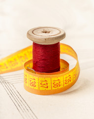 red thread and meter
