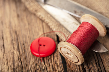 red thread with buttons