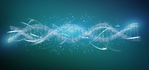 View of a 3d render DNA isolated on a background