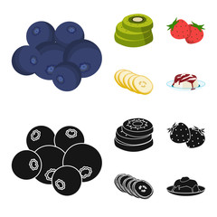 Fruits and other food. Food set collection icons in cartoon,black style vector symbol stock illustration web.