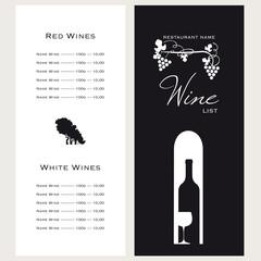Menu dei vini