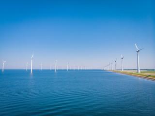 Windmill park in ocean, windmill energy farm