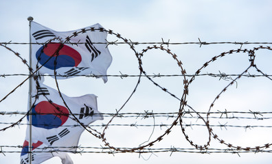 Korean Demilitarized Zone Flag of South Korea Country Board