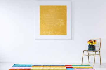 Yellow painting in folk room