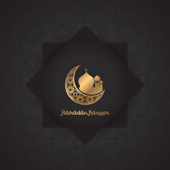 Ramadan kareem design background. vector illustration