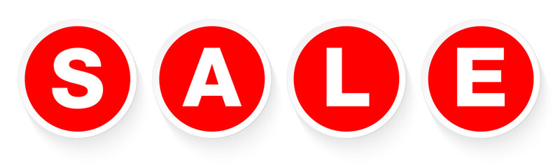 """Buttons """"Sale"""" Red"""