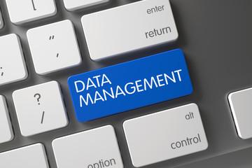 Data Management CloseUp of Keyboard. 3d