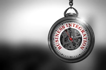 Business Integration on Pocket Watch. 3D Illustration.