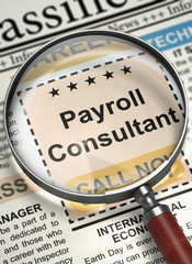 We're Hiring Payroll Consultant. 3D.