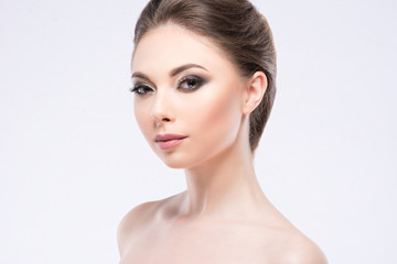girl with a beautiful make-up