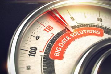 Big Data Solutions - Business Mode Concept. 3D.