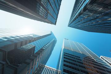 Fond de hotte en verre imprimé New York City Modern buildings in New-York