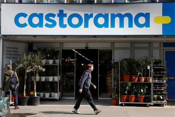 A Castorama shop, French retailer of DIY and home improvement tools and supplies, is seen in Paris