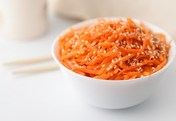 Korean carrot namul salad