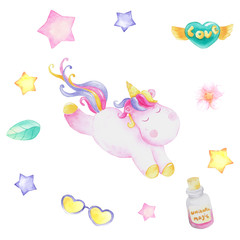 set of unicorn party