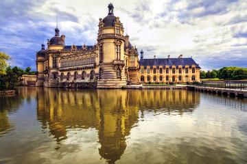 Beautiful  Castles of France - royal Chateau de Chantilly