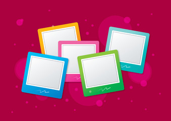 colored photo frame concept illustration vector