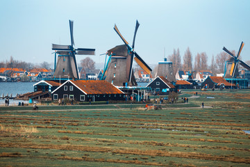 wind mills in Zaanse Schans