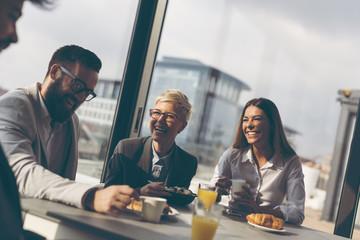 Business people on a coffee break