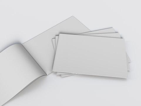 Blank White Catalog Or Magazine