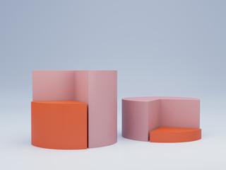 Pie Chart Display. 3D rendering