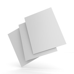 Blank Flyer, Leaflet, Cards For Customization