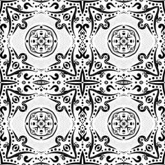 Seamless pattern with swirls and dots