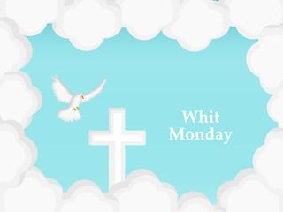 Foto op Plexiglas Hemel Illustration of elements of Whit Monday Background