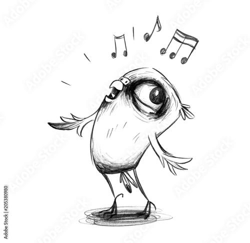 Niedlicher Wellensittich Singt Enthusiastisch Ein Lied Stockfotos
