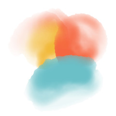 yellow red and blue watercolor background