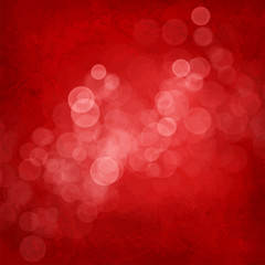 White bubbles on red vintage background
