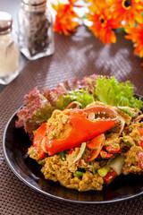 Stir-fried crab curry