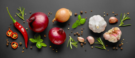 composition of vegetables and spices
