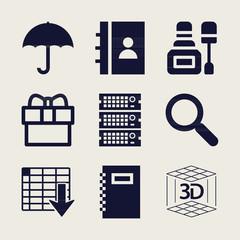 Set of 9 other filled icons