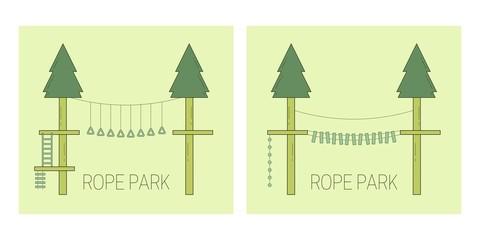 Rope park track