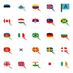 flags icons set