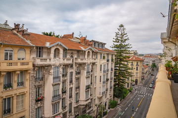 Street view Nice, France.