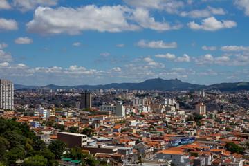 View of Sao Paulo downtown and Pico do Jaragua