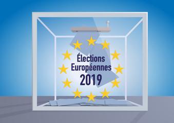 élection - Europe - élections européennes - 2019 - urne - voter - vote - présentation - union européenne