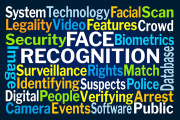 Face Recognition Word Cloud