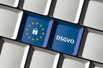 DSGVO Datenschutz Grundverordnung Tastatatur EU Sterne