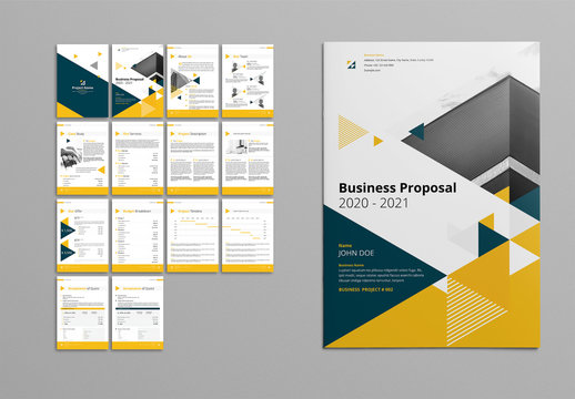 Yellow And Gray Booklet Layout