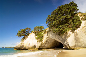 Foto auf Gartenposter Cathedral Cove Cathedral Cove at Coromandel Peninsula, North Island, New Zealand.