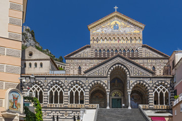 Cathedral of Saint Andrew or Duomo di San Andreas in Amalfi, on Italy's Amalfi Coast.