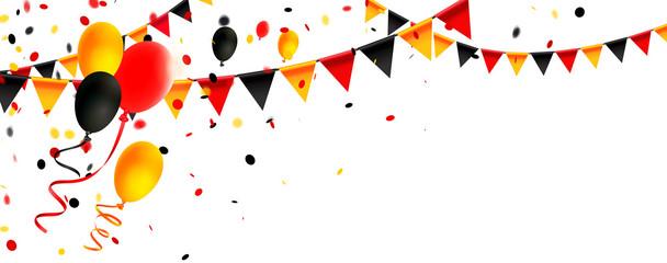 Deutschland Trikolore Girlanden, Luftballons und Konfetti