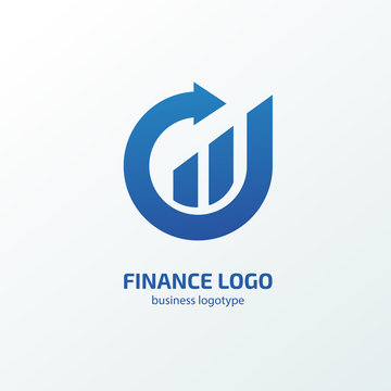Illustration of business logotype bidding and economic.