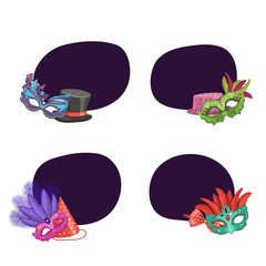 Vector set of stickers masks and party